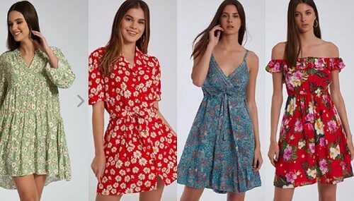 Floral ανοιξιάτικα φορέματα