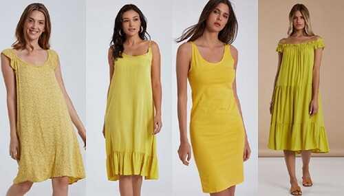 Κίτρινα φορέματα