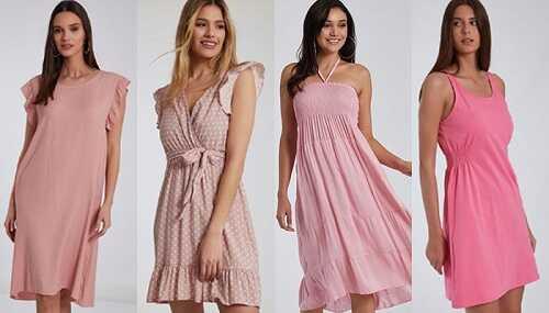 Ροζ φορέματα