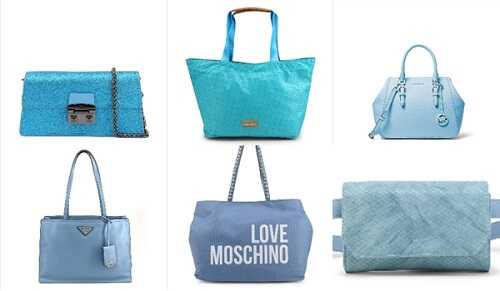Γαλάζιες γυναικείες τσάντες