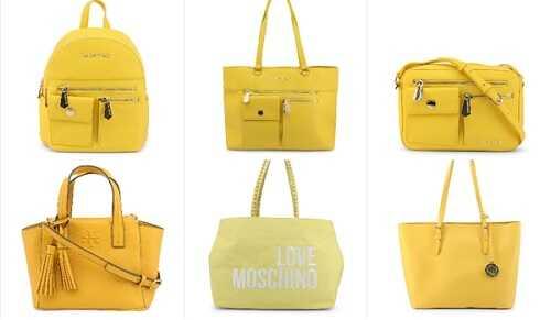 Γυναικείες τσάντες σε κίτρινο χρώμα