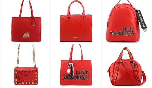 Γυναικείες τσάντες σε κόκκινοχρώμα