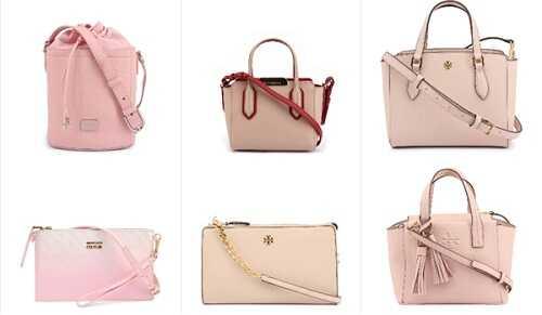 Γυναικείες τσάντες σε ροζ χρώμα