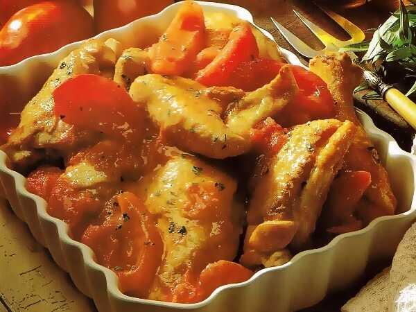 Ψητό κοτόπουλο με ντομάτες και εστραγκόν!